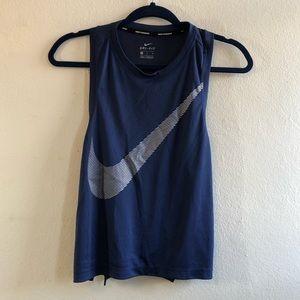 Nike DRI FIT Navy muscle tee